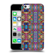 OFFICIAL AMY SIA TRIBAL Patchwork Red Soft Gel Case for Apple iPhone 5c (C_E_1AB73)