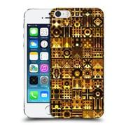 OFFICIAL GIULIO ROSSI PATCHWORK Black & Gold Hard Back Case for Apple iPhone 5 / 5s / SE (9_D_1D8D5)