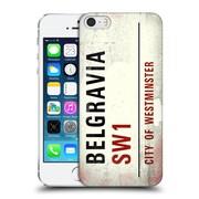 OFFICIAL CITY OF WESTMINSTER VINTAGE STREET SIGNS Belgravia Hard Back Case for Apple iPhone 5 / 5s / SE (9_D_19D57)
