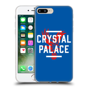 Official Crystal Palace FC The Eagles Royal Blue Palace Soft Gel Case for Apple iPhone 7 Plus (C_1FA_1E186)