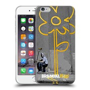OFFICIAL BRANDALISED BANKSY GRAFFITI Yellow Lines Soft Gel Case for Apple iPhone 6 Plus / 6s Plus (C_10_18DD0)
