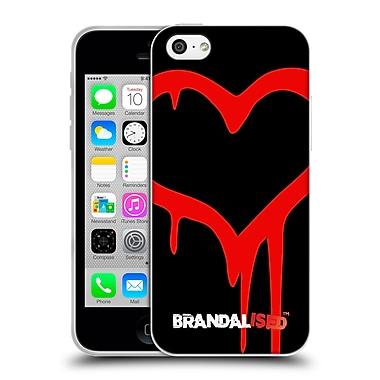OFFICIAL BRANDALISED BANKSY GRAFFITI Painted Heart Soft Gel Case for Apple iPhone 5c (C_E_18DD6)
