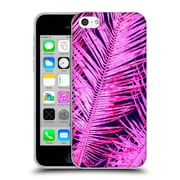 OFFICIAL AMY SIA TROPICAL Palm Hot Pink Soft Gel Case for Apple iPhone 5c (C_E_1AB76)