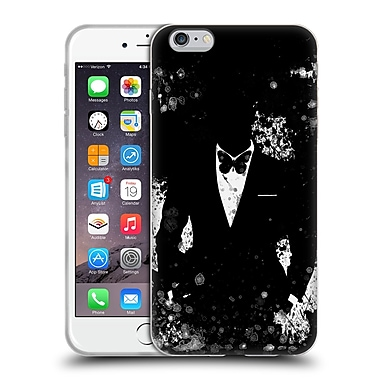 OFFICIAL ARON ART GENTLEMAN Butterfly Black And White Soft Gel Case for Apple iPhone 6 Plus / 6s Plus (C_10_1DF02)