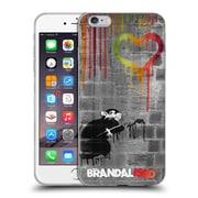 OFFICIAL BRANDALISED BANKSY DRIPS Love Rat Soft Gel Case for Apple iPhone 6 Plus / 6s Plus (C_10_18E09)