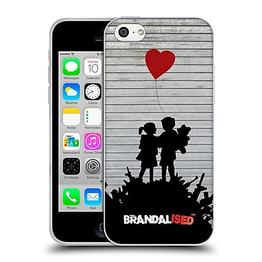 OFFICIAL BRANDALISED BANKSY TAGS Bombsite Love Soft Gel Case for Apple iPhone 5c (C_E_18DDE)