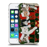 Official Christmas Mix Pets William Vanderdasson Kittens Soft Gel Case for Apple iPhone 5 / 5s / SE (C_D_1D39B)