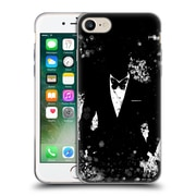 OFFICIAL ARON ART GENTLEMAN Butterfly Black And White Soft Gel Case for Apple iPhone 7 (C_1F9_1DF02)