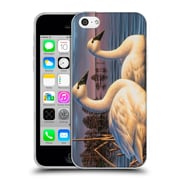 Official CHUCK BLACK BIRD ART Evening Tundras Soft Gel Case for Apple iPhone 5c (C_E_1AE72)