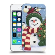 Official Christmas Mix Snowman William Vanderdasson Holding Soft Gel Case for Apple iPhone 5 / 5s / SE (C_D_1D39F)