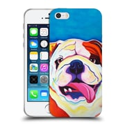 Official Dawgart Dogs Bully Grin Soft Gel Case for Apple iPhone 5 / 5s / SE (C_D_1A442)