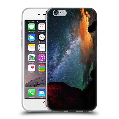 Official Darren White Heavens Northern Lights Over Jackson Lake Pano Soft Gel Case for Apple iPhone 6 / 6s (C_F_1B1C9)