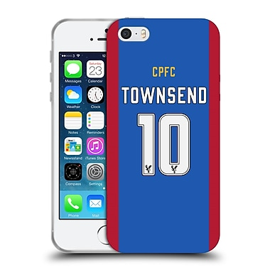 Official Crystal Palace FC 2016/17 Players Home Kit Andros Townsend Soft Gel Case for Apple iPhone 5 / 5s / SE (C_D_1E628)