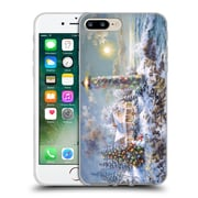 Official Christmas Mix Winter Wonderland Nicky Boehme Lighthouse Merriment Soft Gel Case for Apple iPhone 7 Plus (C_1FA_1D3AB)