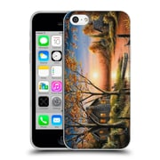 Official CHUCK BLACK CABIN An Autumn Sunset Soft Gel Case for Apple iPhone 5c (C_E_1AE76)