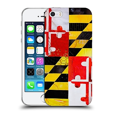 OFFICIAL ARTPOPTART FLAGS Maryland Soft Gel Case for Apple iPhone 5 / 5s / SE (C_D_1A228)