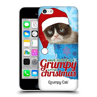 OFFICIAL GRUMPY CAT CHRISTMAS Bucket Hard Back Case for Apple iPhone 5c (9_E_1CC08)