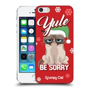 OFFICIAL GRUMPY CAT GRUMPMOJI CHRISTMAS Yule Be Sorry Hard Back Case for Apple iPhone 5 / 5s / SE (9_D_1CC17)