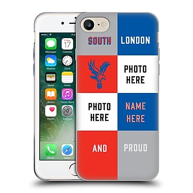 CUSTOM CUSTOMISED PERSONALISED CRYSTAL PALACE FC 2016/17 South London And Proud Soft Gel Case for Apple iPhone 7 (C_1F9_1E73B)
