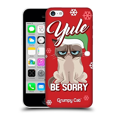OFFICIAL GRUMPY CAT GRUMPMOJI CHRISTMAS Yule Be Sorry Hard Back Case for Apple iPhone 5c (9_E_1CC17)