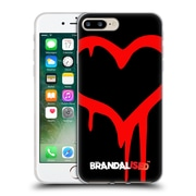 OFFICIAL BRANDALISED BANKSY GRAFFITI Painted Heart Soft Gel Case for Apple iPhone 7 Plus (C_1FA_18DD6)