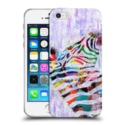 OFFICIAL ARTPOPTART ANIMALS Purple Zebra Soft Gel Case for Apple iPhone 5 / 5s / SE (C_D_1A216)