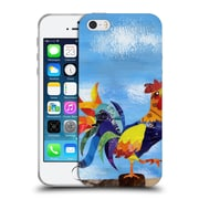 OFFICIAL ARTPOPTART ANIMALS Colorful Rooster Soft Gel Case for Apple iPhone 5 / 5s / SE (C_D_1A21E)