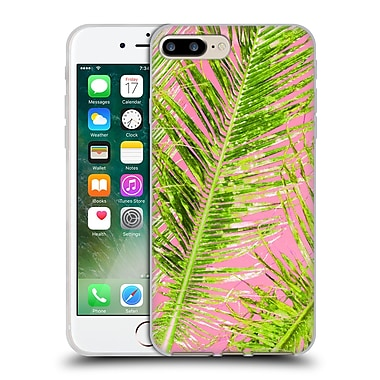 OFFICIAL AMY SIA TROPICAL Palm Pink Green Soft Gel Case for Apple iPhone 7 Plus (C_1FA_1AB77)
