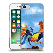 OFFICIAL ARTPOPTART ANIMALS Colorful Rooster Soft Gel Case for Apple iPhone 7 (C_1F9_1A21E)