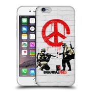 OFFICIAL BRANDALISED BANKSY TEXTURED ART Soldiers Soft Gel Case for Apple iPhone 6 / 6s (C_F_19A4A)