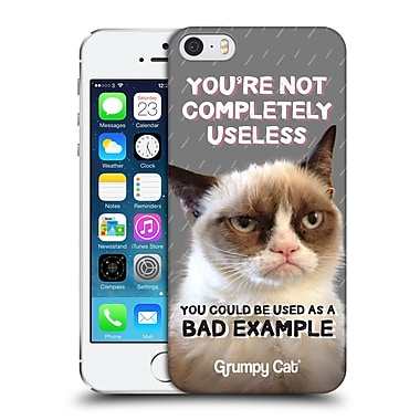 OFFICIAL GRUMPY CAT QUOTES Useless Hard Back Case for Apple iPhone 5 / 5s / SE (9_D_1CC22)