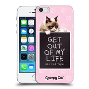 OFFICIAL GRUMPY CAT QUOTES Get Out Hard Back Case for Apple iPhone 5 / 5s / SE (9_D_1CC1C)