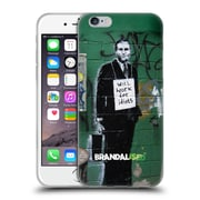 OFFICIAL BRANDALISED BANKSY TEXTURED ART Work For Idiots Soft Gel Case for Apple iPhone 6 / 6s (C_F_19A47)