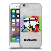 OFFICIAL BRANDALISED BANKSY TEXTURED ART Heavy Artillery Soft Gel Case for Apple iPhone 6 / 6s (C_F_19A46)