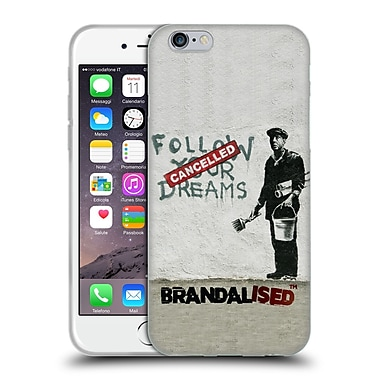 OFFICIAL BRANDALISED BANKSY WALL ART Follow Your Dreams Soft Gel Case for Apple iPhone 6 / 6s (C_F_19A51)