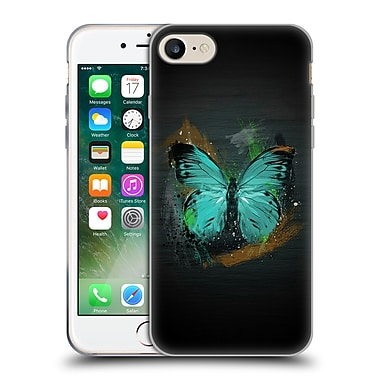 OFFICIAL ARON ART ANIMALS Butterfly Soft Gel Case for Apple iPhone 7 (C_1F9_1DEF5)