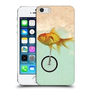 OFFICIAL VIN ZZEP FISH Unicycle Goldfish Hard Back Case for Apple iPhone 5 / 5s / SE (9_D_1E25B)
