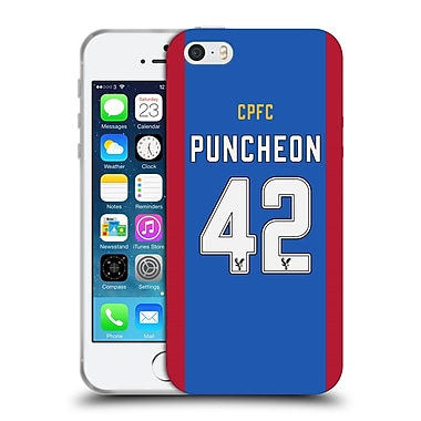 Official Crystal Palace FC 2016/17 Players Home Kit Jason Puncheon Soft Gel Case for Apple iPhone 5 / 5s / SE (C_D_1E625)