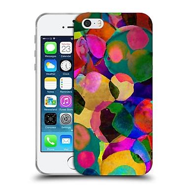 OFFICIAL AMY SIA WATERCOLOUR SPOTS Rainbow Soft Gel Case for Apple iPhone 5 / 5s / SE (C_D_1AB7B)