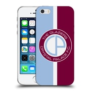 Official Crystal Palace FC 2016/17 Retro Badge Glaziers Logo Soft Gel Case for Apple iPhone 5 / 5s / SE (C_D_1E190)