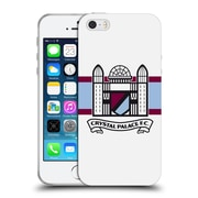 Official Crystal Palace FC 2016/17 Retro Badge Towers Logo Soft Gel Case for Apple iPhone 5 / 5s / SE (C_D_1E18F)