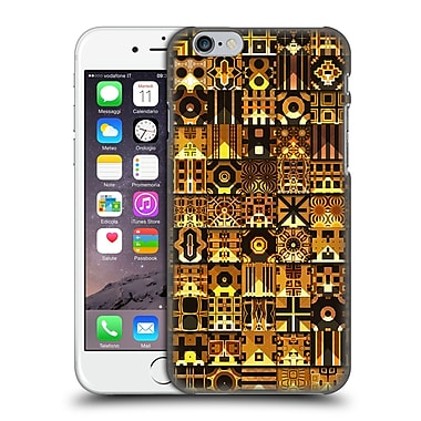 OFFICIAL GIULIO ROSSI PATCHWORK Black & Gold Hard Back Case for Apple iPhone 6 / 6s (9_F_1D8D5)