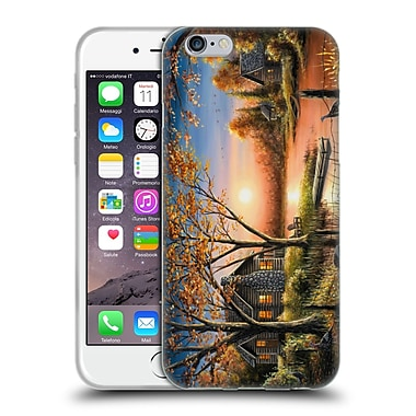 Official CHUCK BLACK CABIN An Autumn Sunset Soft Gel Case for Apple iPhone 6 / 6s (C_F_1AE76)