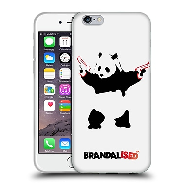 OFFICIAL BRANDALISED BANKSY RED BLACK ART Panda Guns Soft Gel Case for Apple iPhone 6 / 6s (C_F_18DF1)