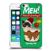 OFFICIAL GRUMPY CAT CHRISTMAS Seasons Greetings Hard Back Case for Apple iPhone 5 / 5s / SE (9_D_1CC05)