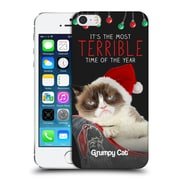 OFFICIAL GRUMPY CAT CHRISTMAS Terrible Hard Back Case for Apple iPhone 5 / 5s / SE (9_D_1CC09)