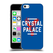 Official Crystal Palace FC The Eagles Royal Blue Palace Soft Gel Case for Apple iPhone 5c (C_E_1E186)