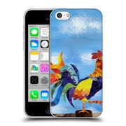 OFFICIAL ARTPOPTART ANIMALS Colorful Rooster Soft Gel Case for Apple iPhone 5c (C_E_1A21E)