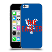 Official Crystal Palace FC The Eagles Royal Blue Eagles Soft Gel Case for Apple iPhone 5c (C_E_1E188)
