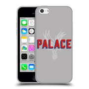 Official Crystal Palace FC The Eagles Palace Grey Soft Gel Case for Apple iPhone 5c (C_E_1E185)